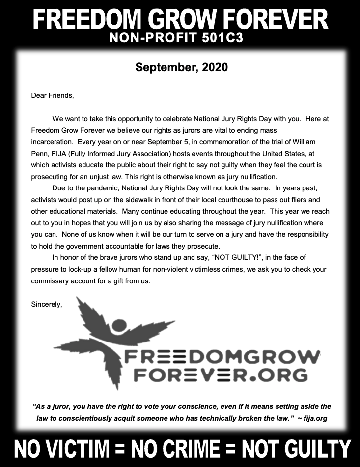 Freedom Grow Forever September 2020 newsletter