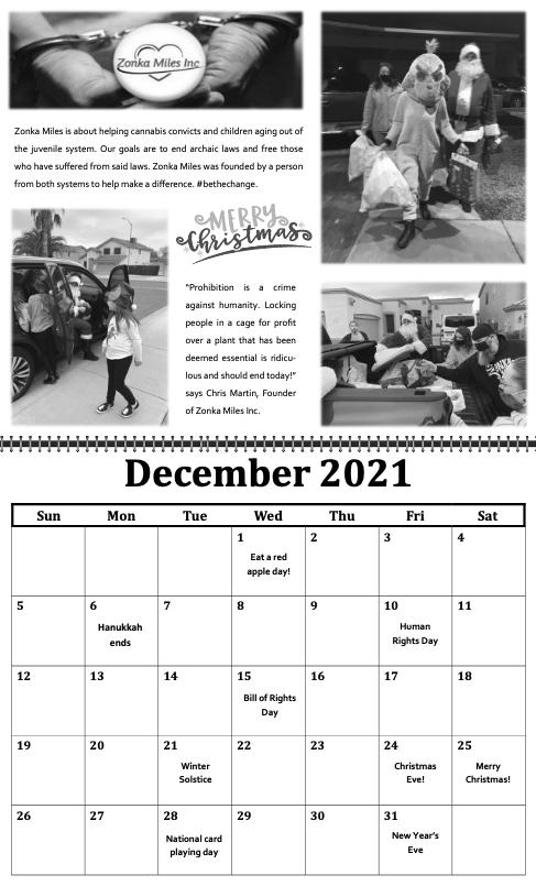 freedom grow forever calendar december 2021