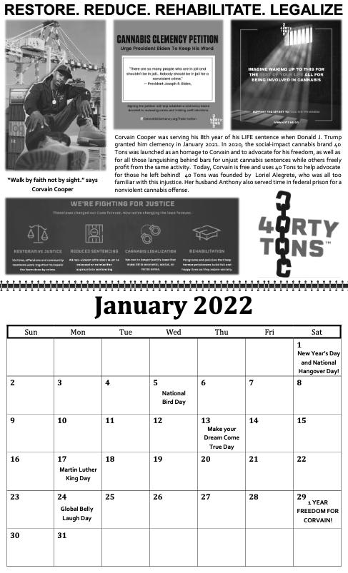 freedom grow forever calendar january 2022