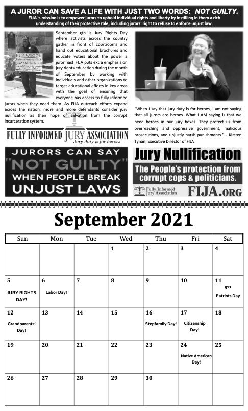 freedom grow forever calendar september 2021