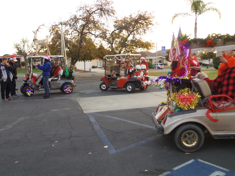 Golf Cart Christmas Parade