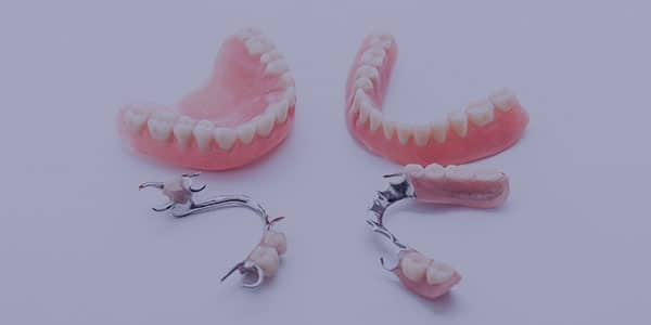 A photo of fixed and partial dentures