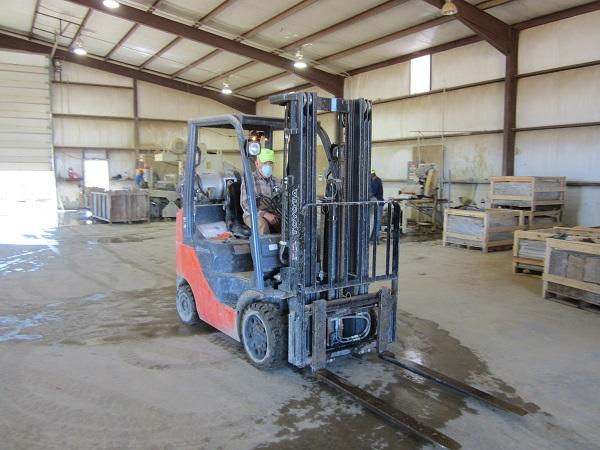 Hernan on the Forklift
