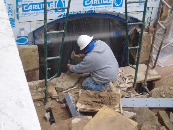 Wall Rock Installation