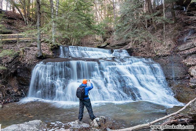The author at Hell's Hollow Falls.