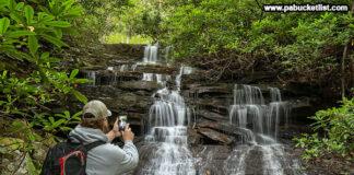 Selfie at Sugar Run Falls, Ohiopyle State Park.