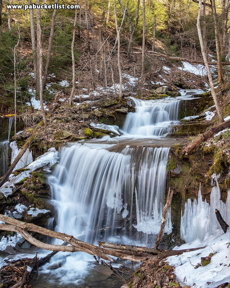 Stone Quarry Run Falls in mid-March 2019.