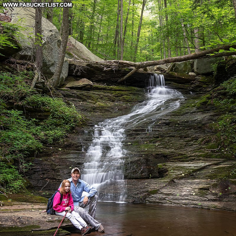 Summer view of the fifth waterfall on Miners Run in the Loyalsock State Forest.