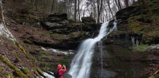 The author at Bohen Run Falls.