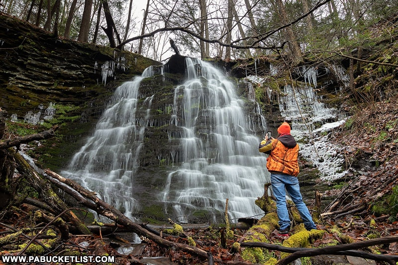 The author at Jerry Run Falls