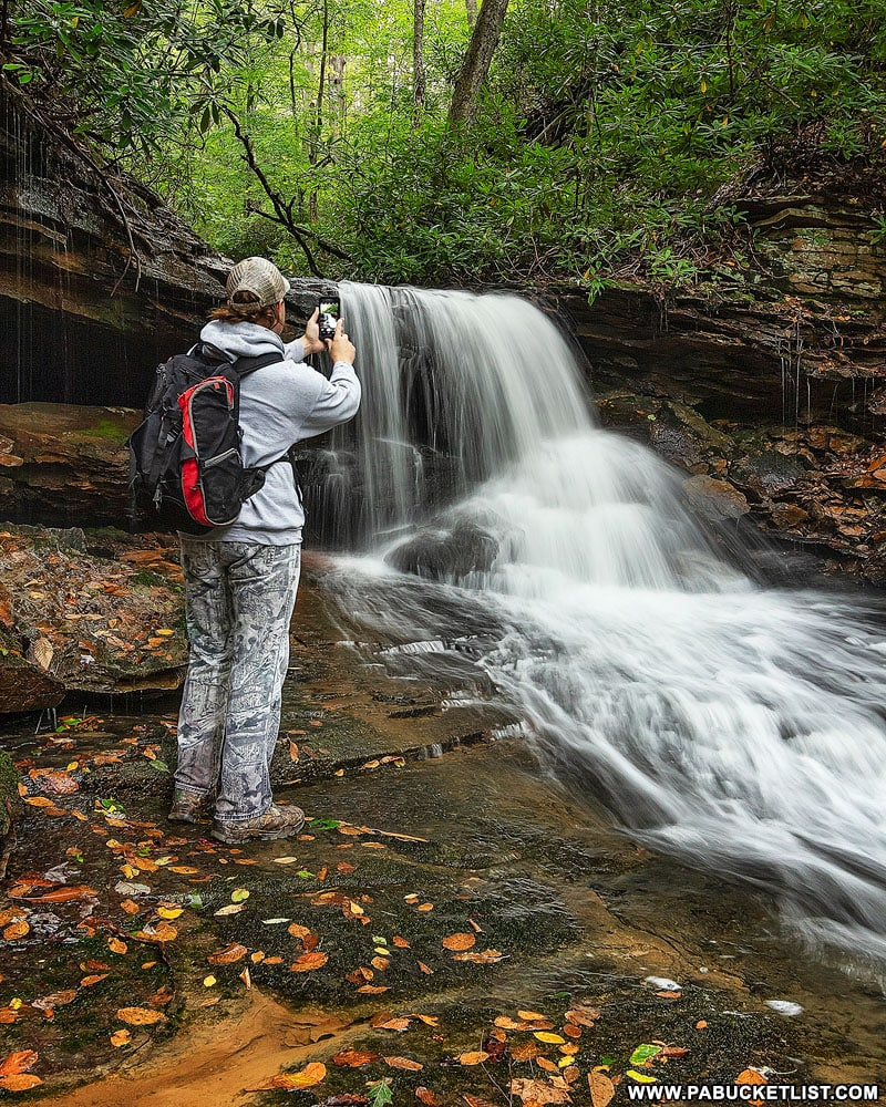 The author at Cave Falls on Cole Run in Somerset County,PA.