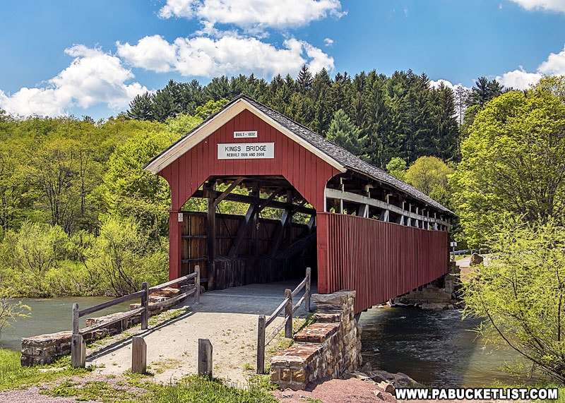 A springtime view of Kings Covered Bridge in Somerset County