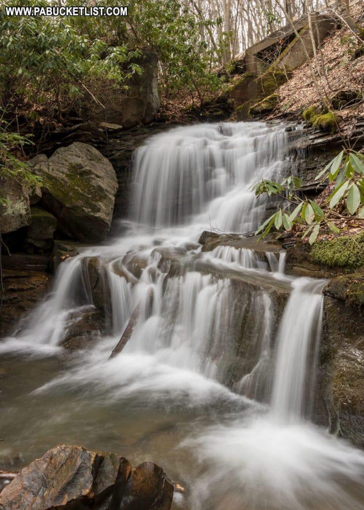 Lower Sugar Run Falls at Ohiopyle State Park.