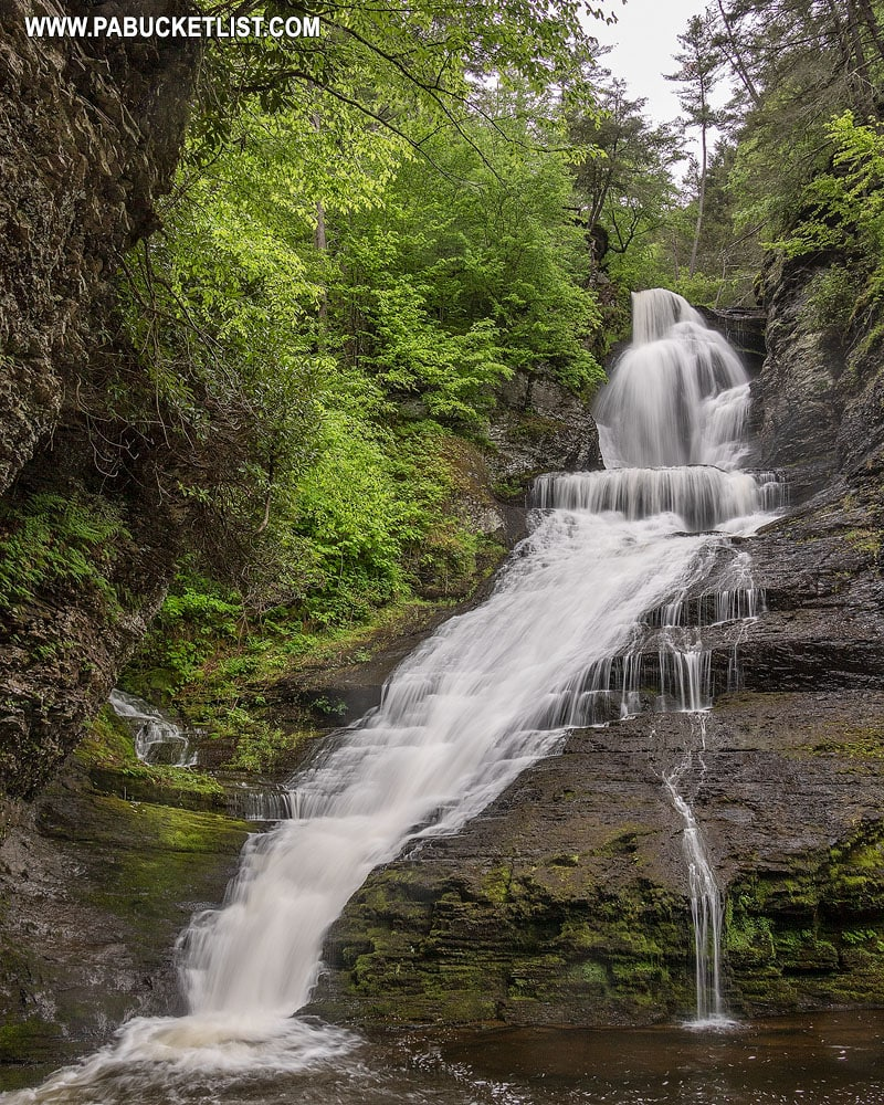 Dingmans Falls in Pike County, Pennsylvania