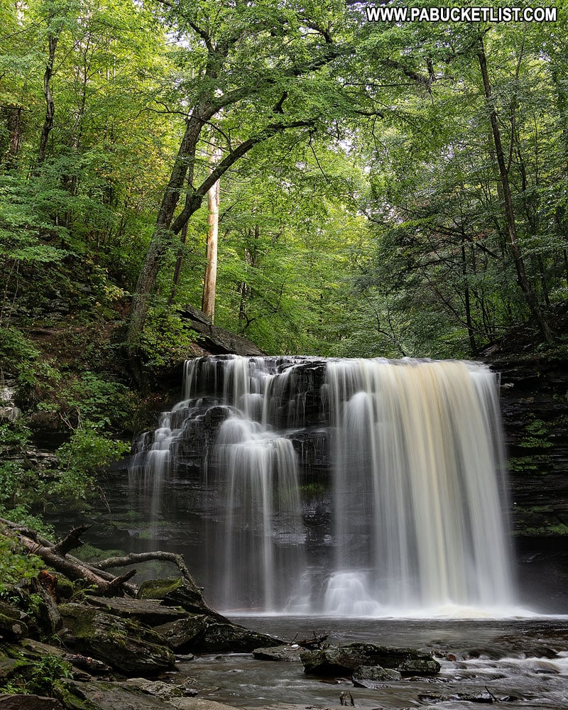 Harrison Wright Falls at Ricketts Glen State Park in Pennsylvania.