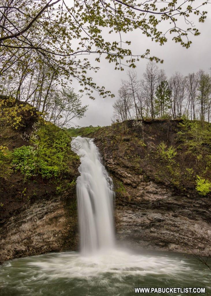 Hinckston Run Falls in Cambria County Pennsylvania