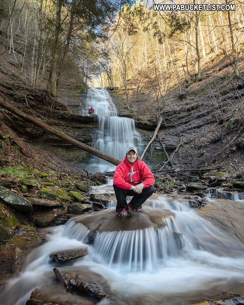 Rusty Glessner at Lower Bear Run Falls in Tioga County Pennsylvania
