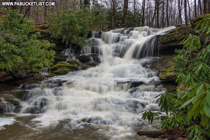 Stewarton Falls on Crooked Creek n Fayette County Pennsylvania