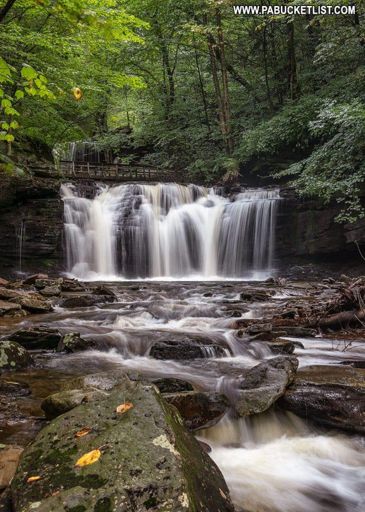 Wyandot Falls at Ricketts Glen State Park in Pennsylvania.