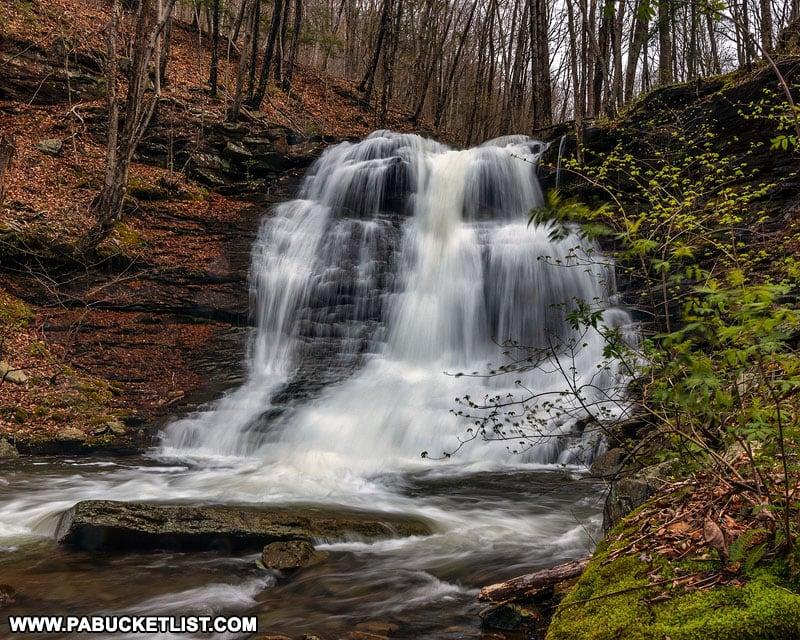 Large unnamed waterfall on Abbott Run in Lycoming County Pennsylvania