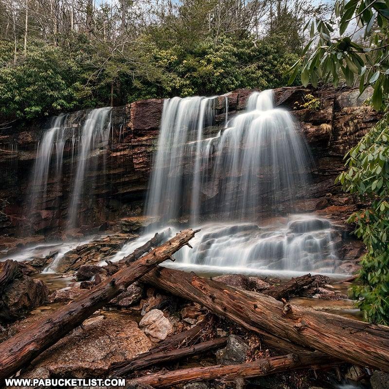Cave Falls on Glen Onoko Run near Jim Thorpe Pennsylvania