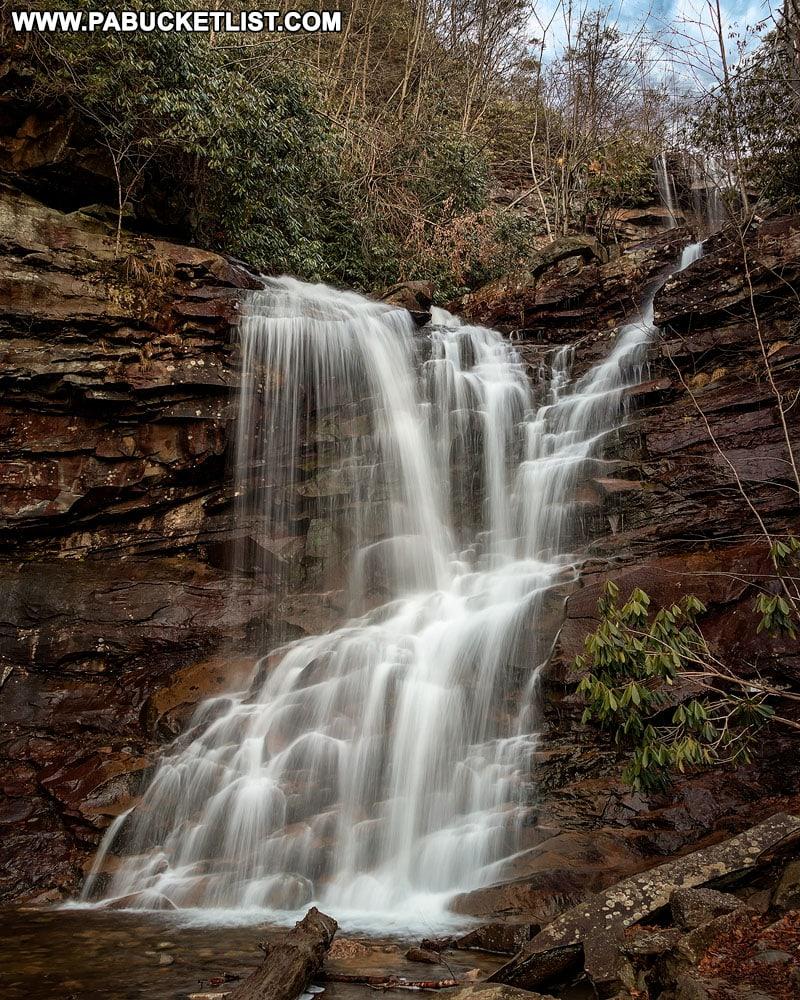 Chameleon Falls along the Glen Onoko Falls Trail near Jim Thorpe Pennsylvania