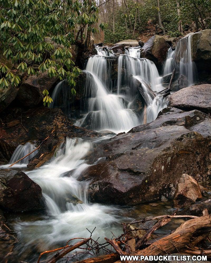 Small waterfall on Glen Onoko Run close to the Lehigh River.