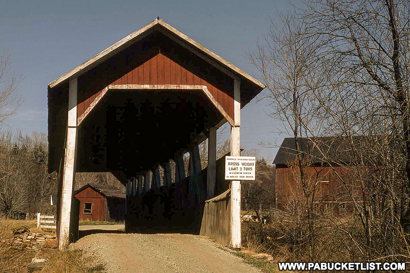 The Glessner Covered Bridge in 1972 Somerset County Pennsylvania