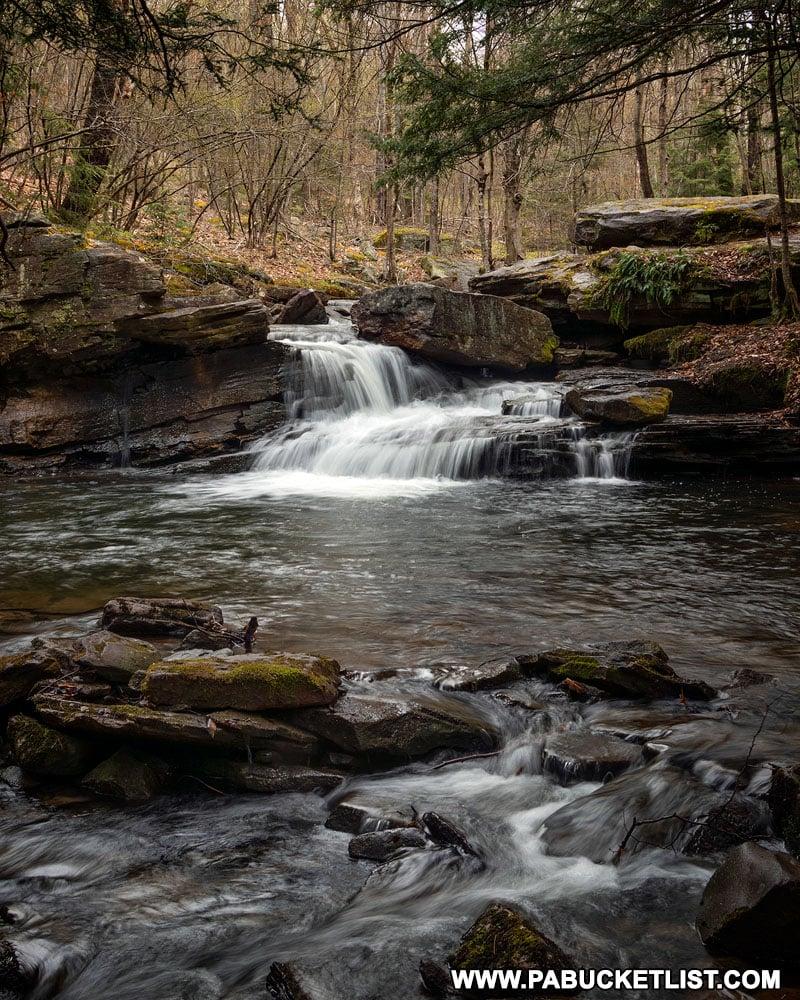 Lick Creek Falls in Tioga County near Landrus Road