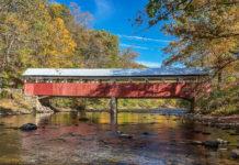 Autumn at Lower Humbert Covered Bridge