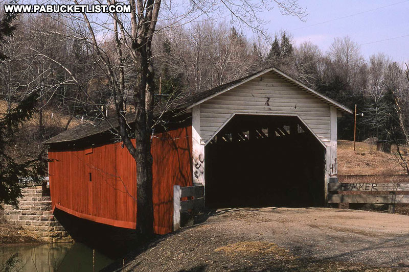 McGees MIlls Covered Bridge as it appeared in 1973
