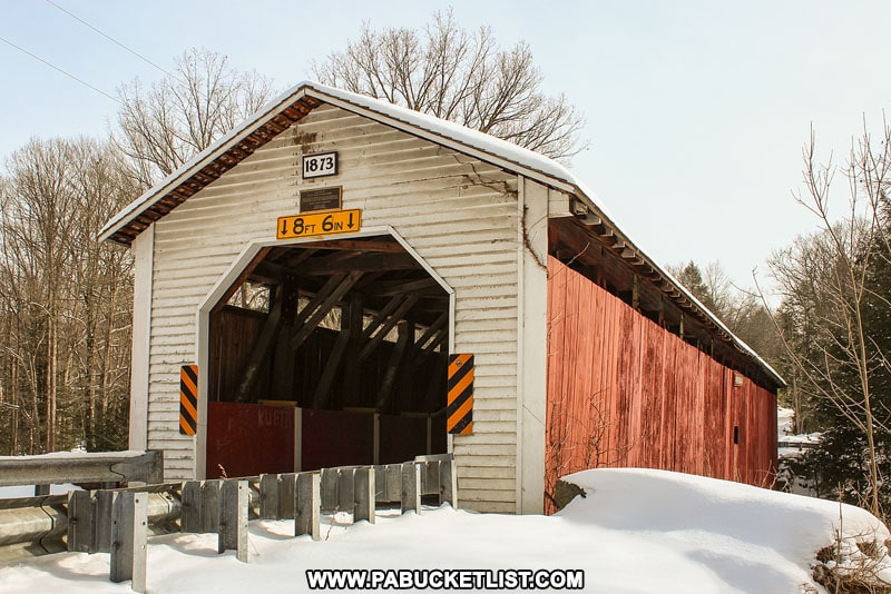 Winter at McGees Mills Covered Bridge