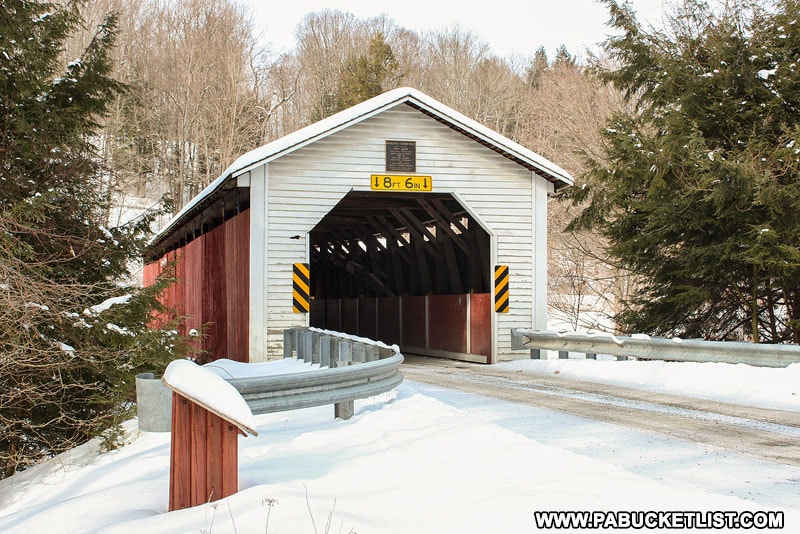 McGees Mills Covered bridge near Mahaffey in Clearfield County PA