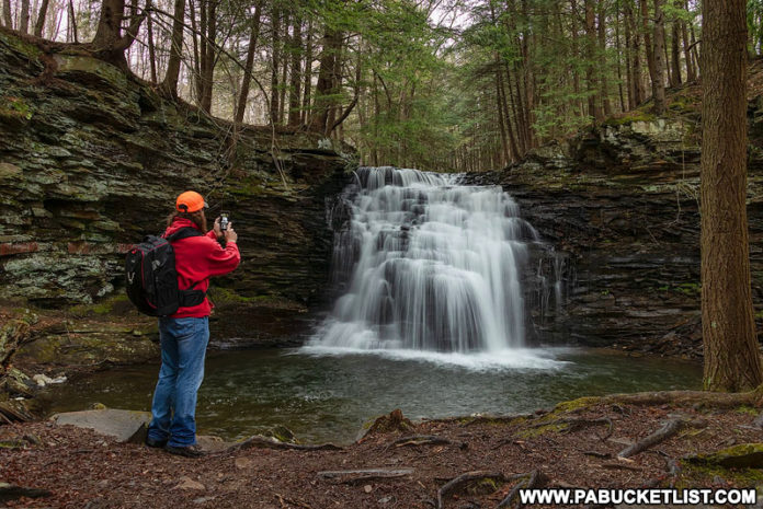 Rusty Glessner at Sand Run Falls along the Mid State Trail