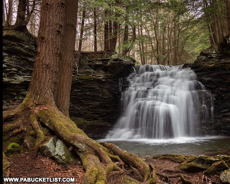 Sand Run Falls along the Mid State Trail