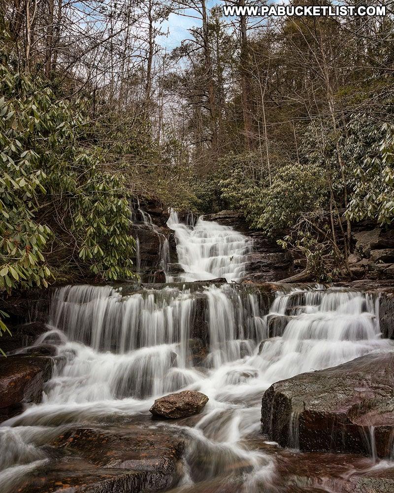 Terrace Falls on Glen Onoko Run near Jim Thorpe PA