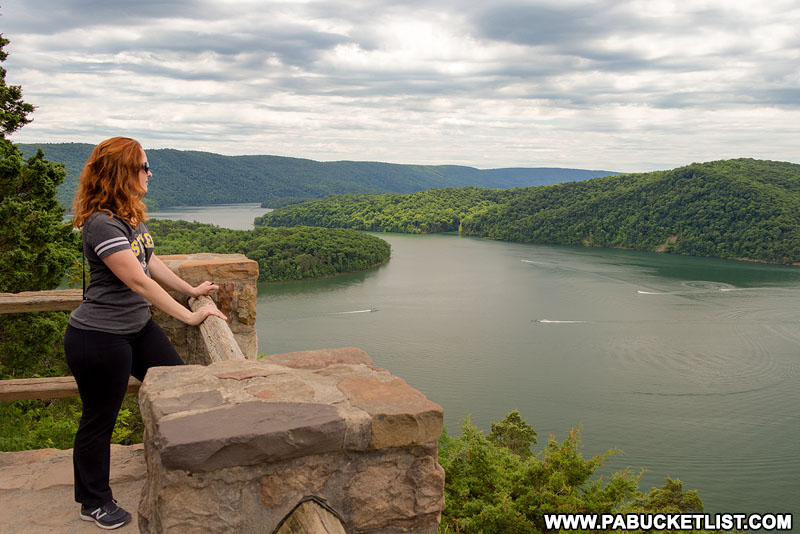 Observation area at Hawn's Overlook above Raystown Lake.