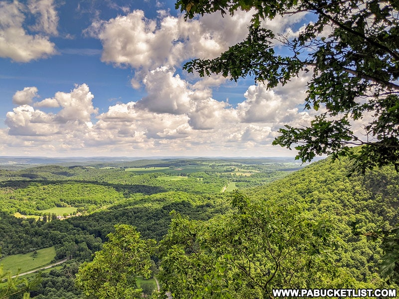 Incredible view from Indian Lookout in Huntingdon County.