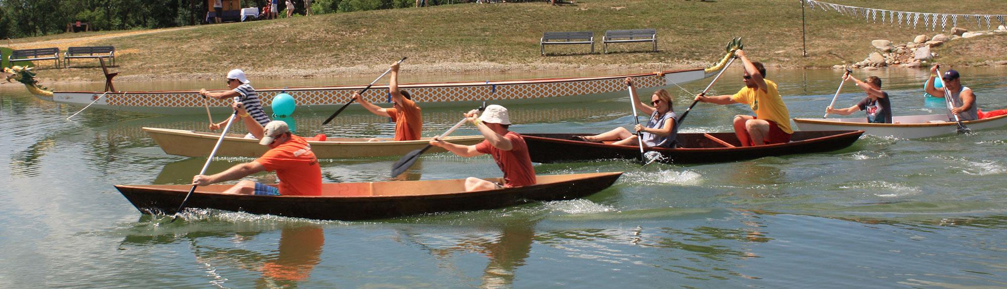 Dragonboat racing at Robin Hills Farm