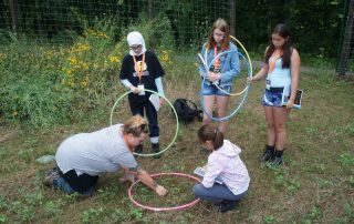 Summer Camp, Day 4: Sun/Plants and Fungi/Acryllic Painting