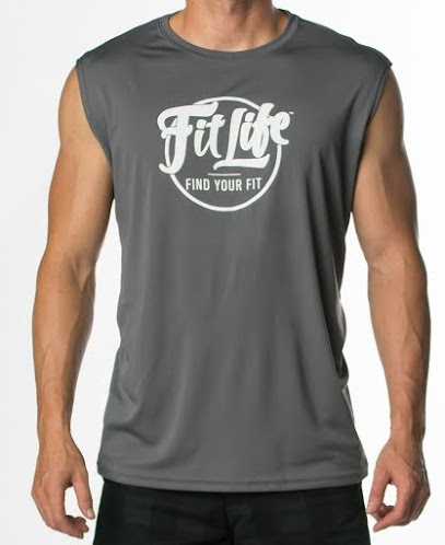 Polyester Cooling Performance Fit Life Muscle Tee In Charcoal