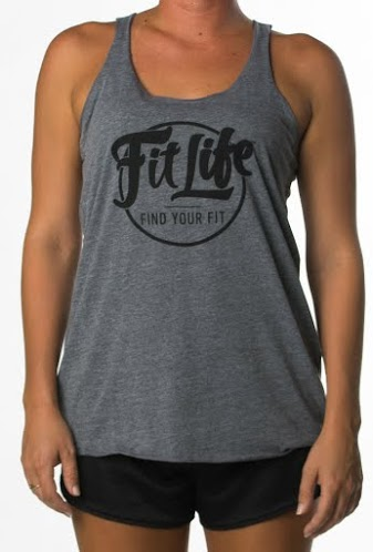 Fit Life Tri- Blend Racerback Tank In Grey