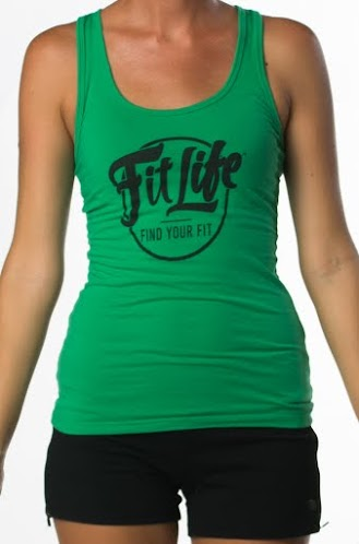 Fit Life Racerback Tank Offers A Slim Fit And A Longer Body In Green