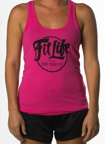 Fit Life Racerback Tank Offers A Slim Fit And A Longer Body In Hot Pink