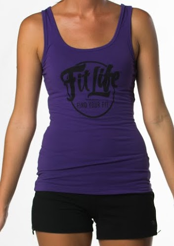 Fit Life Racerback Tank Offers A Slim Fit And A Longer Body In Purple
