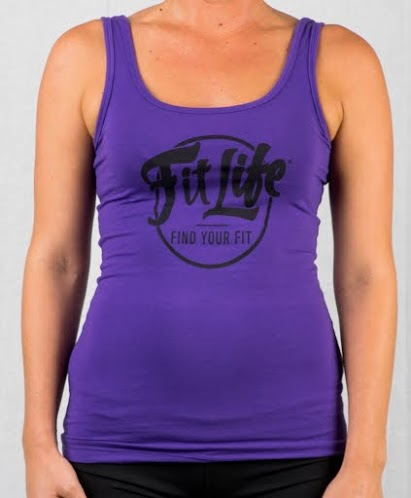 Fit Life Jersey Tank Offers A Slim Fit And A Longer Body In Purple