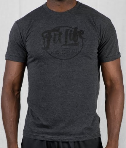 Ultra-soft, Ultra-comfy Fit Life T-shirt In Dark Grey