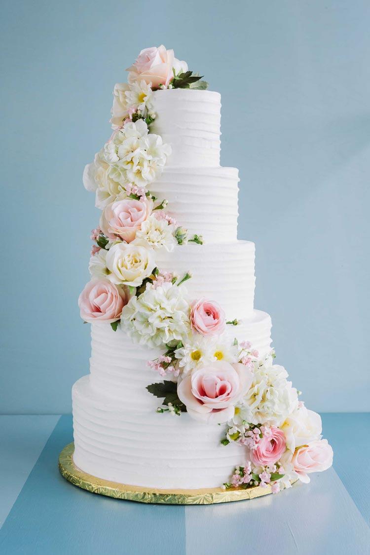 Cascading Flower 5-tier Cake