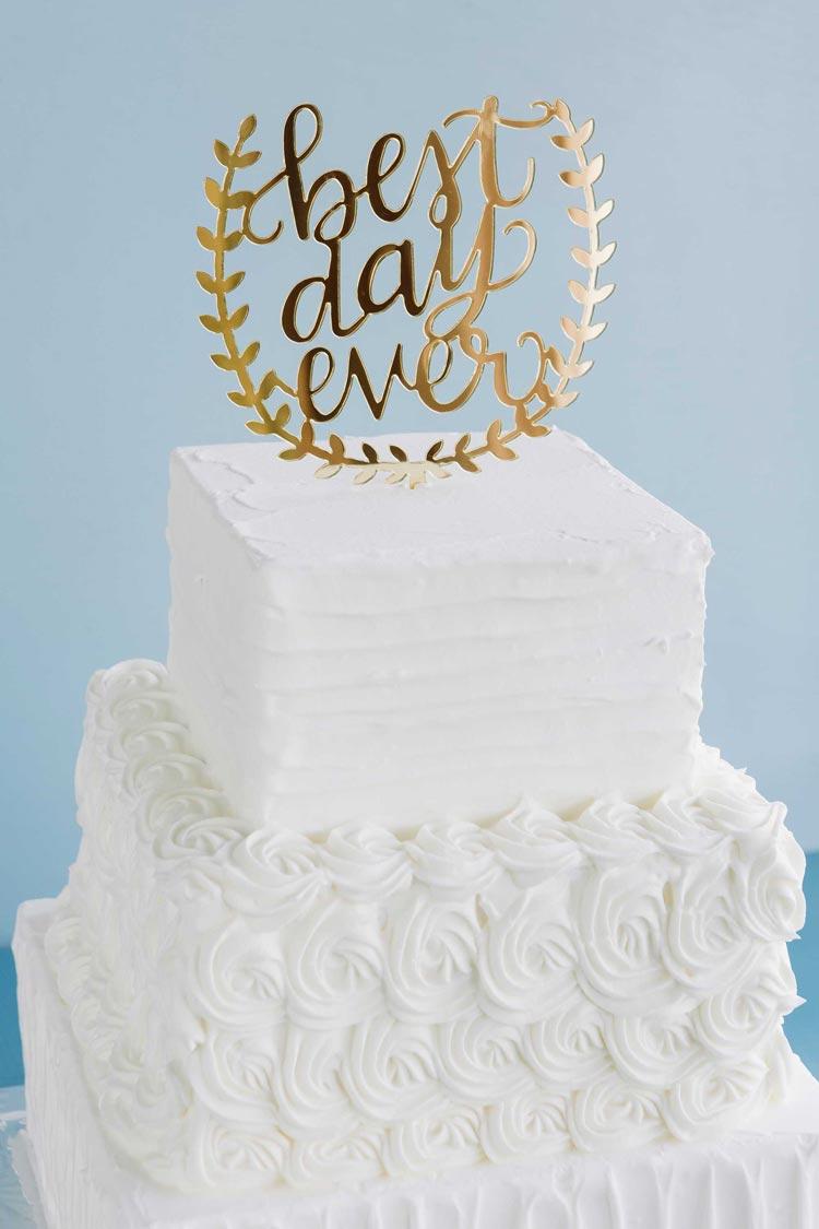 Square Rosette Cake