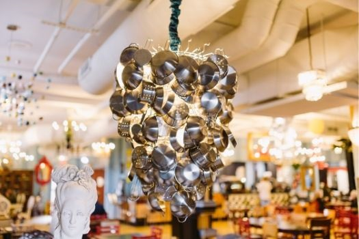 Pots and Pans Chandelier